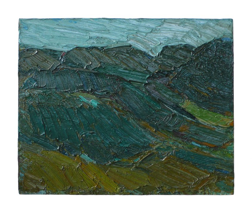 1995 hills 20x25cm oil on cardboard